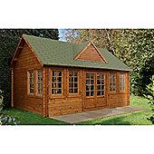 5.5m x 4.0m Log Cabin + 8 Windows - 44mm Wall Thickness