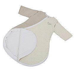 Purflo Jersey Cotton/Bamboo lining Baby Sleepsac 2.5 TOG 0-3 mths Mushroom Spot/Stripe