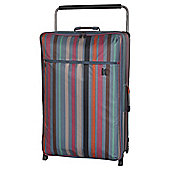 It Luggage Worlds Lightest 2-Wheel X-Large Teal Stripe Suitcase