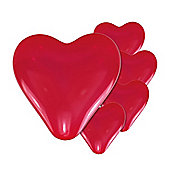 Mini Red Heart Balloons - 8 inch - 10 Pack
