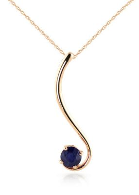 QP Jewellers 18in 1.15mm Swish Necklace with 0.55ct Sapphire Pendant in 14K Rose Gold