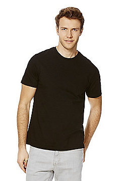 F&F Crew Neck T-Shirt with As New Technology - Black