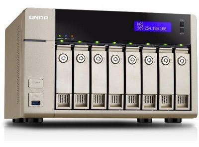 QNAP TVS-863+ 8G 8-Bay Affordable 10GbE-ready Golden Cloud Turbo vNAS Enclosure