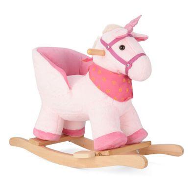 Pink Unicorn Animal Rocking Horse