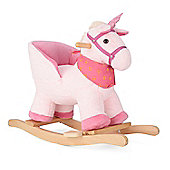 Pink Unicorn Animal Rocking Horse