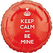 Keep Calm and Be Mine Balloon - 18 inch Foil