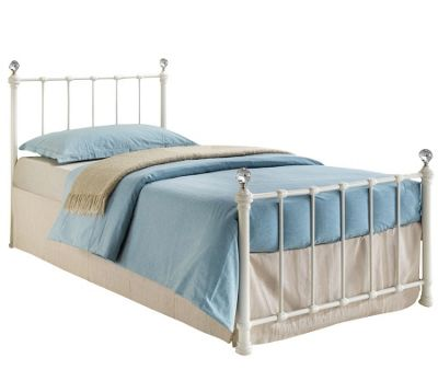 Buy Jessica Metal Single Bed - Cream from our Single Beds range - Tesco