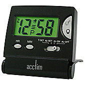 Acctim Mini Flip LCD Alarm Clock - Black
