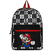Super Mario Nintendo Jumping Black & White Backpack