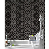 Graham & Brown Knightsbridge Wallpaper - Black