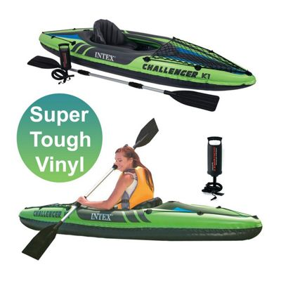 Intex 1 Challenger Kayak 1 Man Inflatable With Oars - 68305