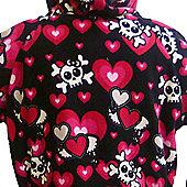 Skull and Hearts Toddler Fleece Onesie - Large