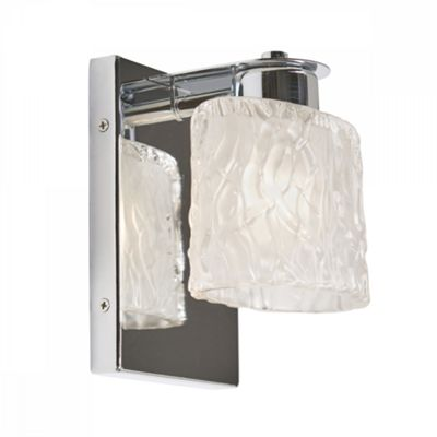 Polished Chrome 1lt Bathroom Wall Light - 1 x 3.5W LED G9
