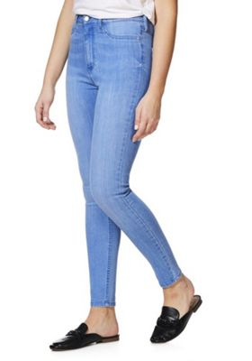 F&F High Rise Tube Pant Super Skinny Jeans Light Wash 20 Regular leg