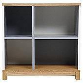 Oslo White & Grey Bookcase, Wide