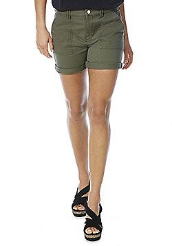 F&F Cuffed Chino Shorts - Khaki