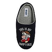 Disney Grumpy Slogan Mule Slippers - Navy