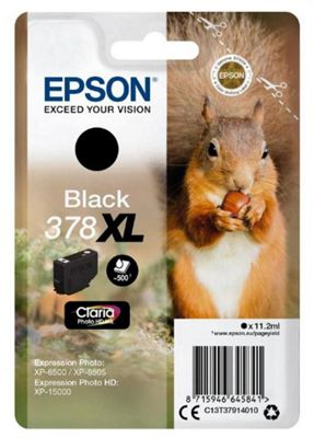 Epson 378XL 11.2ml 500pages Black ink cartridge 500 pages