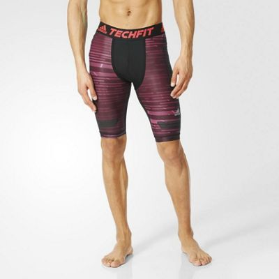 adidas Performance Mens Techfit Chill Compression Shorts - L
