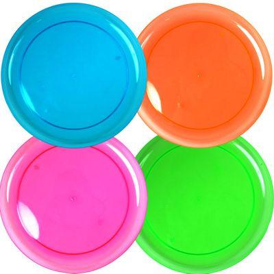 Plain Partyware Plastic Plates 23cm