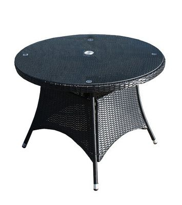 Round Table Lincoln.Buy Bridgman Lincoln Glass Round Dining Table In Black From Our