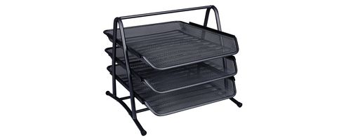 Q-Connect 3-Tier Letter Tray Black KF00823