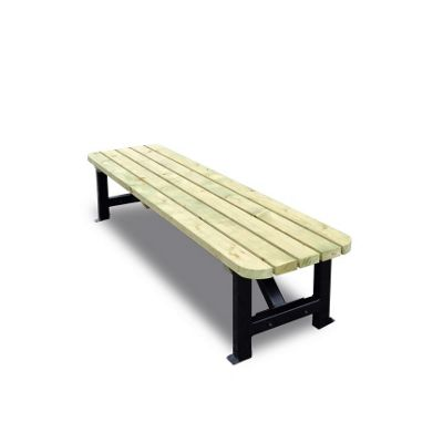 Ketton steel rounded bench - 4ft