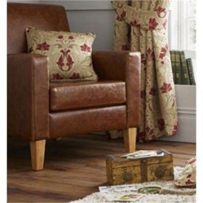 Curtina Burford Red & Gold Cushion Cover - 43x43cm