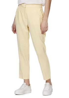 F&F Ruffle Pocket Slim Fit Trousers Yellow 12