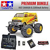 TAMIYA Lunch Box RC Car Premium Bundle Fast Charger 58347