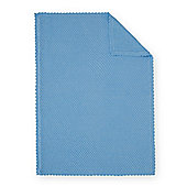 B Baby Bedding Blue Ball Stitch Blanket