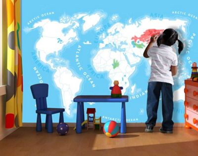 Buy 1wall kids world map wall mural from our wallpaper range tesco 1wall kids world map wall mural gumiabroncs Choice Image