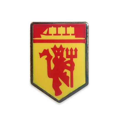 Manchester United Official Football Gift Red Devil & Ship Metal Enamel Pin Badge