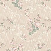 Superfresco Jocelyn Classic Floral Pink Wallpaper