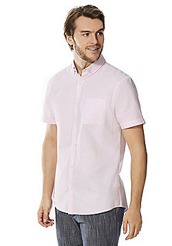 F&F Short Sleeve Oxford Shirt - Pink
