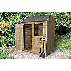 Forest Garden 6x4 Overlap Pressure Treated Reverse Apex Shed