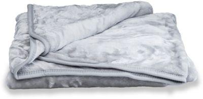Faux Fur Silver Mink Throw Soft Warm Blanket 127 x 152cm