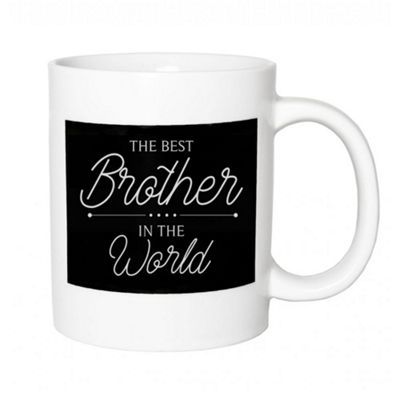 Original Ceramic 'The Best Brother In The World' Black & White Mug