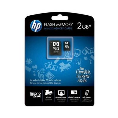 PNY HP 2GB MicroSD Memory Card with Adaptor