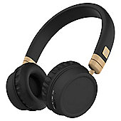 Kitsound Harlem Wireless Over-Ear Headphones With Microphone, Rose Gold and Black