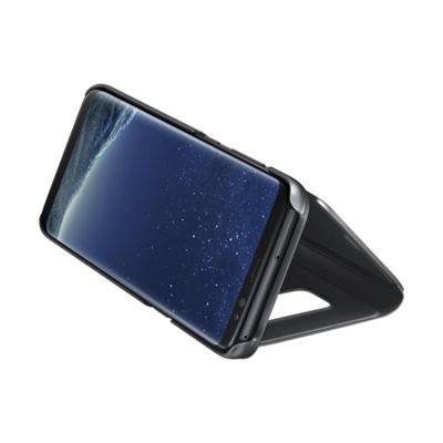 Samsung S8 Clear View Stand Cover Black