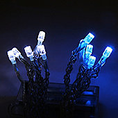 10 Blue & White Battery LED Fairy Lights