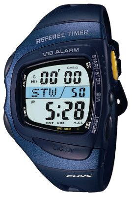 Casio Referee Timer Sports Watch Blue/Silver