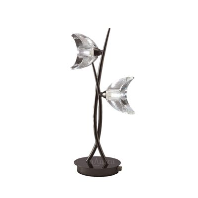 Eclipse Table Lamp 2 Light Black Chrome