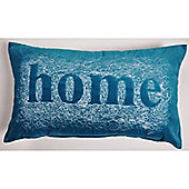 Mason Grey Velvet Home Teal Cushion Cover - 28x48cm