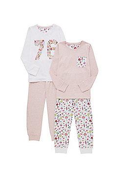 F&F 2 Pack of Floral Pyjamas - Multi