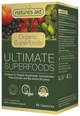 Natures Aid Ultimate Organic Superfoods - 60 Capsules