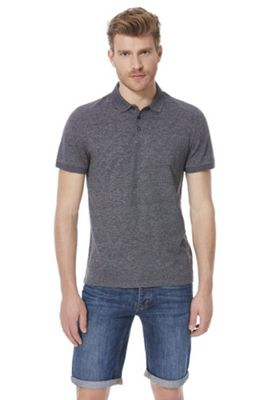 F&F Grindle Short Sleeve Polo Shirt Dark Grey XL