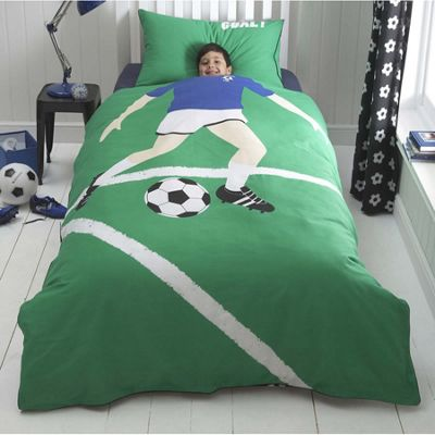 Football Star Toddler Bedding BUNDLE, Blue. 4.5 Tog Quilt