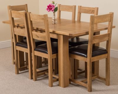 Hampton Solid Oak Extending 120